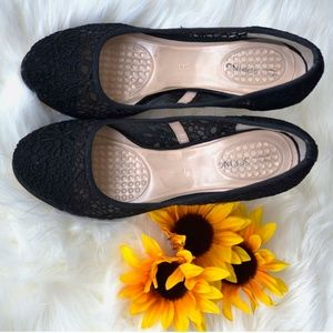 Call In Spring Shoes Black Lace High Heel Elegant